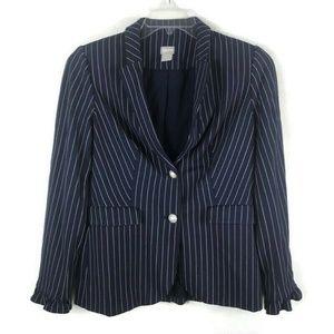 Chicos Size 0 (US 4/6) Striped Blazer Jacket